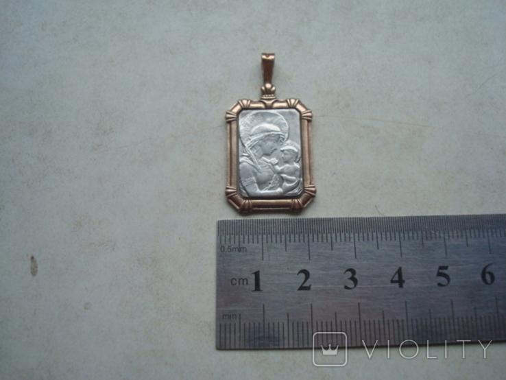 Кулон,подвес,ладанка,серебро,позолота,5,88гр., фото №4