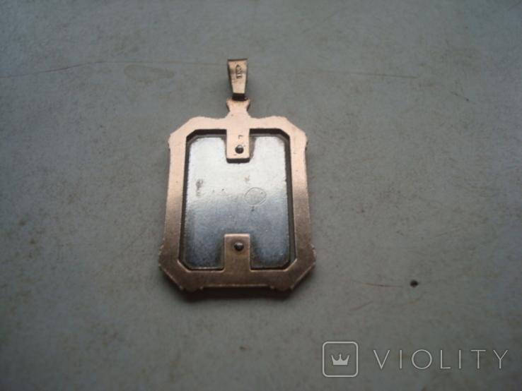 Кулон,подвес,ладанка,серебро,позолота,5,88гр., фото №5