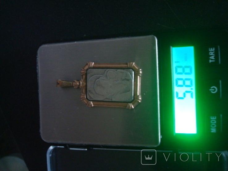 Кулон,подвес,ладанка,серебро,позолота,5,88гр., фото №9