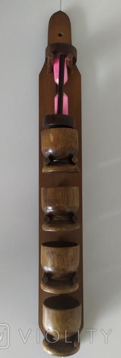 Стопки і пішчаний годинник з дерева, фото №9