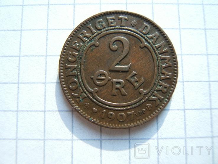 Дания 2 эре 1907 г. KM#805, фото №2