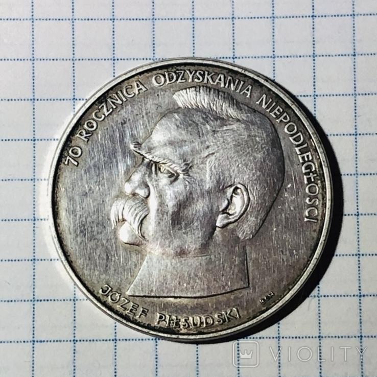Польша. 50000 злотых 1988 год. Юзеф Пилсудский, фото №2