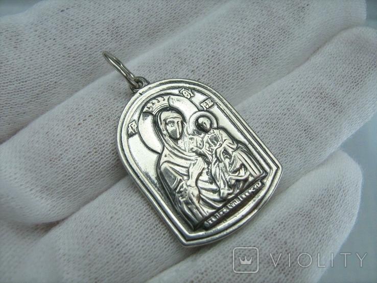 Серебряный Кулон Святой Николай Чудотворец Богородица Тверская Серебро 925 проба 914, фото №3