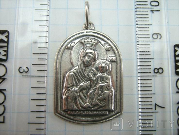Серебряный Кулон Святой Николай Чудотворец Богородица Тверская Серебро 925 проба 914, фото №5