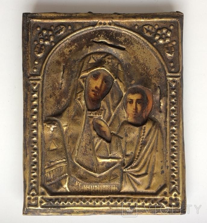 Икона Богородицы 17.5 х 13.5 см, фото №2