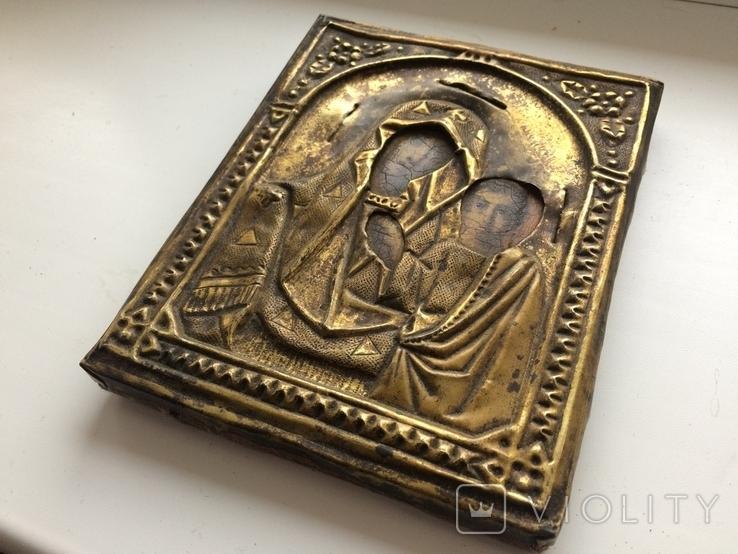 Икона Богородицы 17.5 х 13.5 см, фото №4