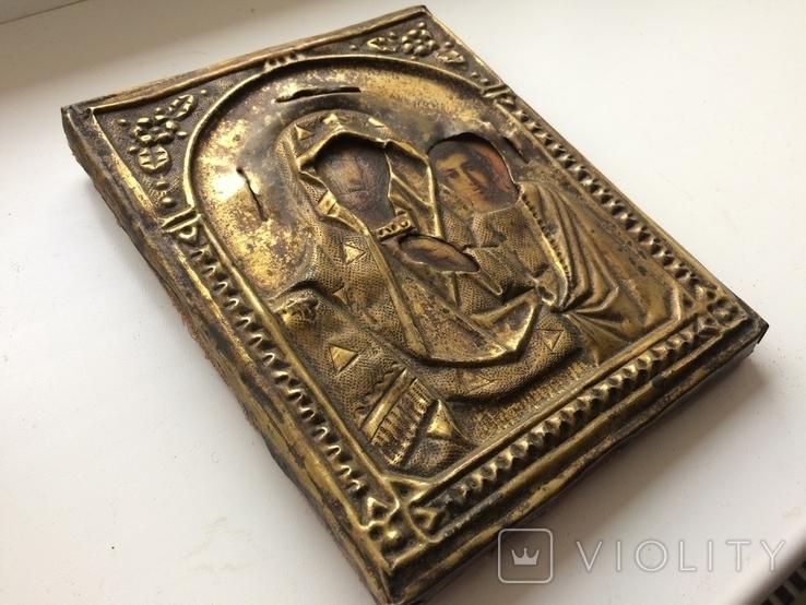 Икона Богородицы 17.5 х 13.5 см, фото №5