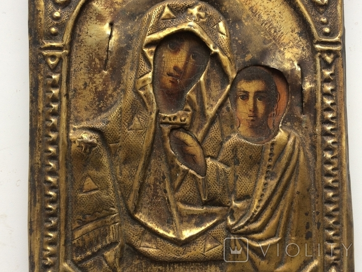 Икона Богородицы 17.5 х 13.5 см, фото №6