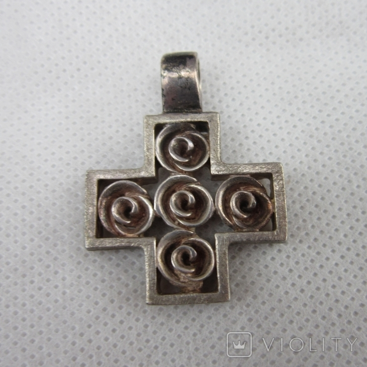 Хрест, винтаж  серебро 925, фото №2