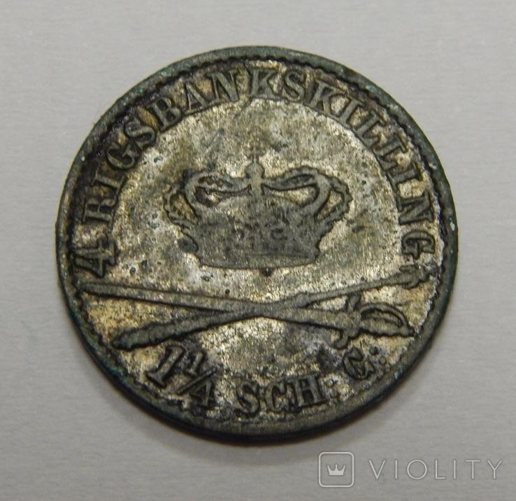 4 скиллинга, 1848 г Дания, фото №2