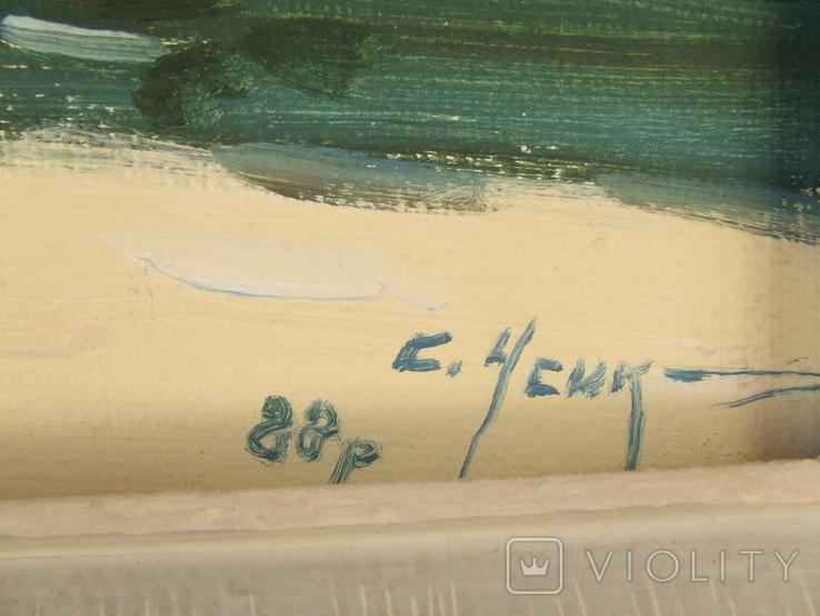 Зас.худ.укр. Усик  С. раз. 75 х 68 см. к. м. 1988 год. Закарпатская шк. Бокшая и Манайла., фото №8