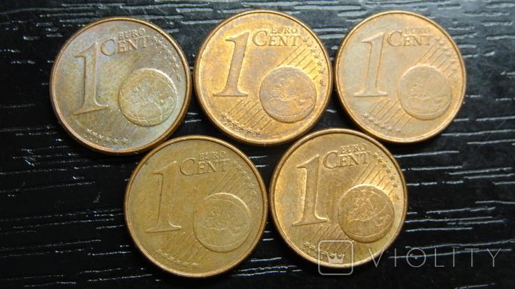 1 євроцент Нідерланди (порічниця) 5шт, всі різні, фото №3