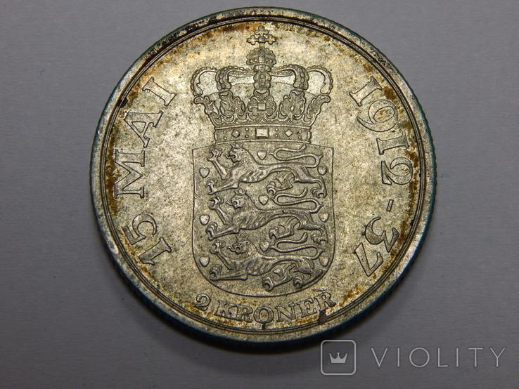 2 кроны, 1937 г Дания, фото №2