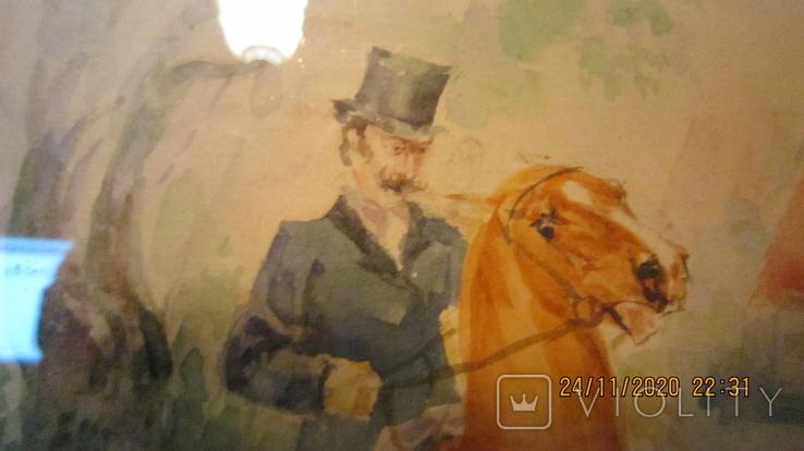 """И. Чаплинская  """"Норовистый конь""""  Акварель, фото №8"""
