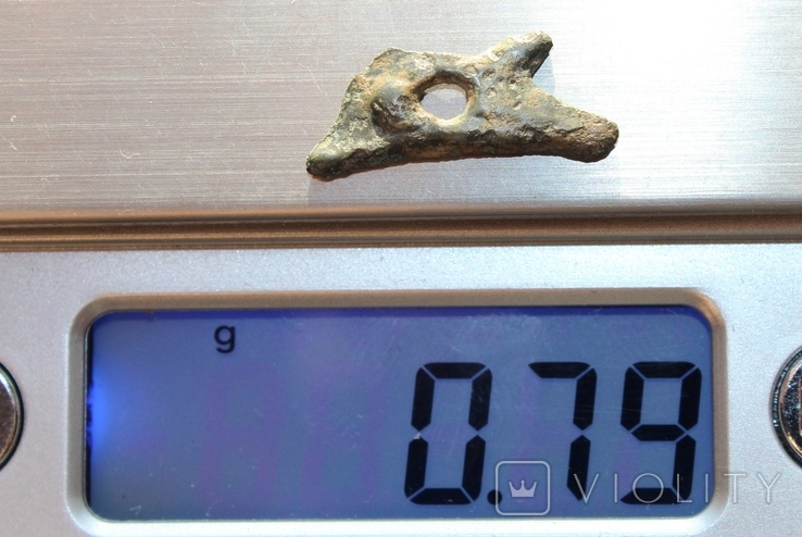 Ольвия - Дельфин с дыркой 0,79 грамма 21 мм, фото №4