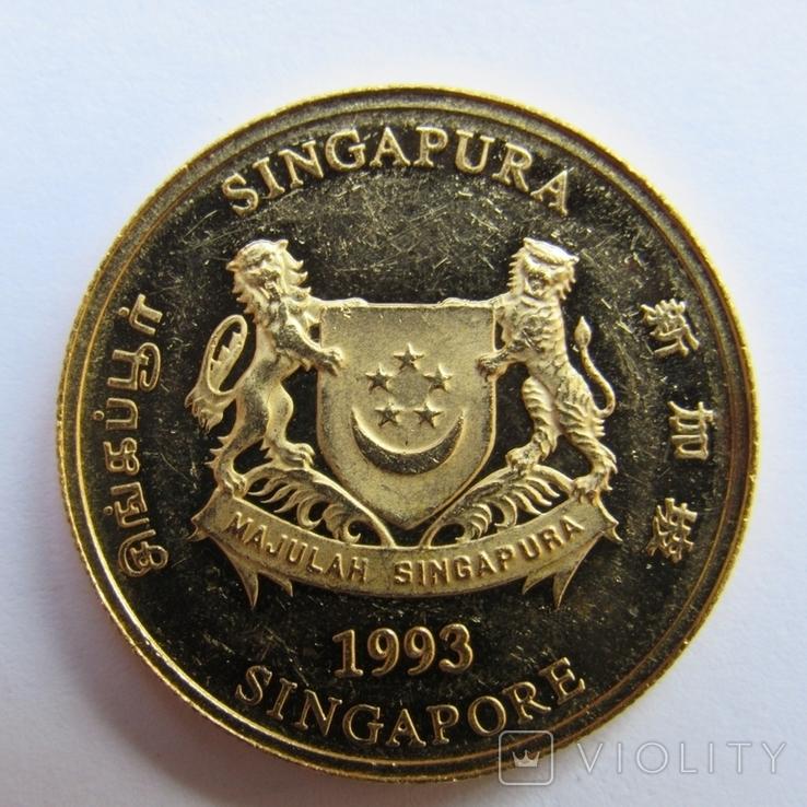 25 долларов 1993 г. Сингапур (1/4 oz. 999,9), фото №3