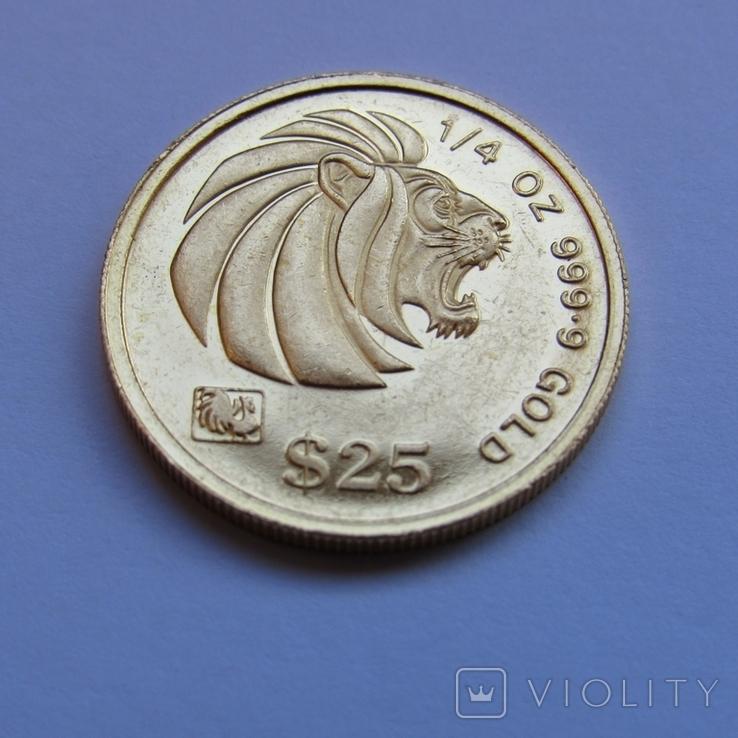 25 долларов 1993 г. Сингапур (1/4 oz. 999,9), фото №4