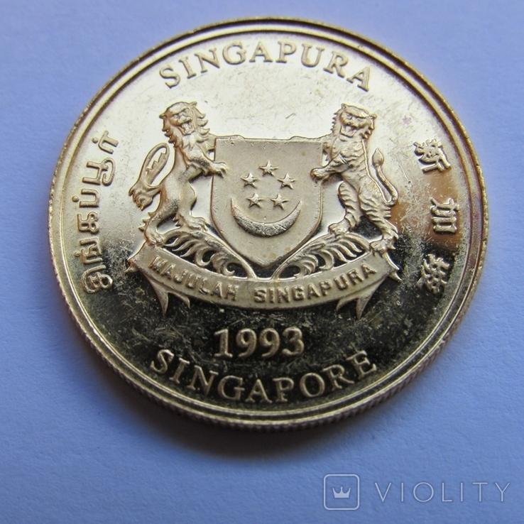 25 долларов 1993 г. Сингапур (1/4 oz. 999,9), фото №5
