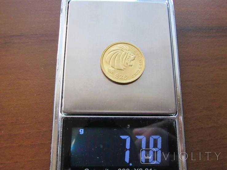 25 долларов 1993 г. Сингапур (1/4 oz. 999,9), фото №10