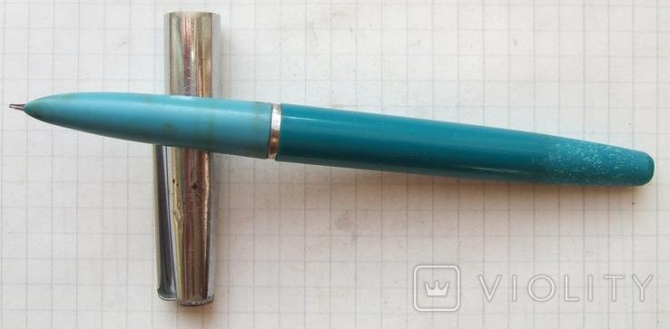 """Перьевая ручка МЗПП со шприцевой заправкой. Перо с """"ложечкой"""" - гибкое."""