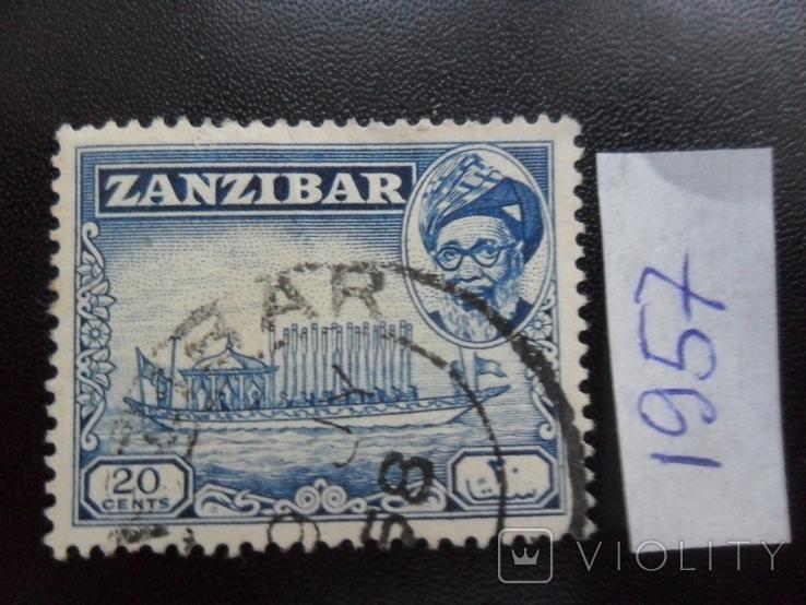 Корабли. Занзибар. 1957 г. Парусник.  гаш