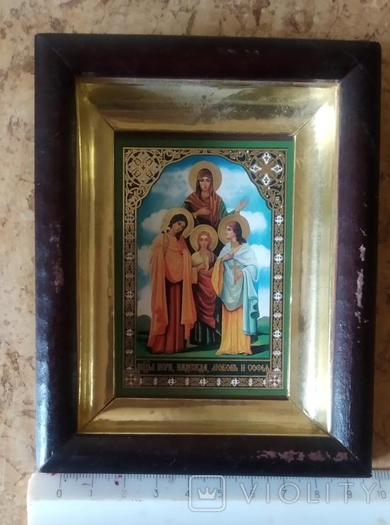 """Икона """"Вера, Надежда, Любовь и мать их София"""", фото №2"""