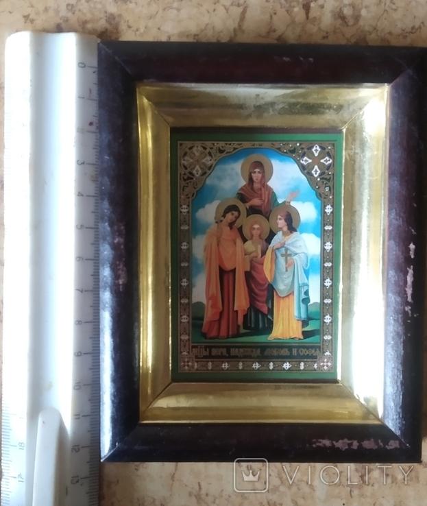 """Икона """"Вера, Надежда, Любовь и мать их София"""", фото №3"""