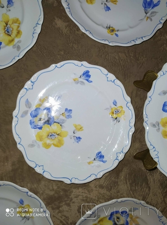 Тарелки Фарфор Германия Schoenau 6 штук, фото №8