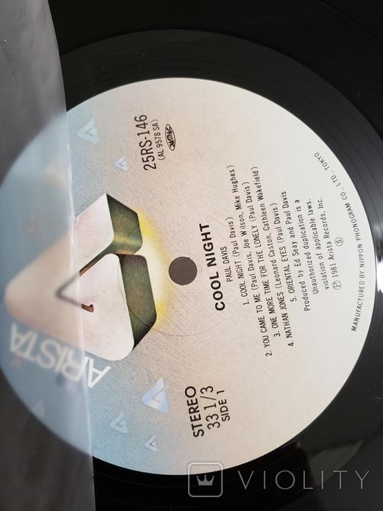 "Vinyl. Rock, Funk / Soul. ""Paul Davis – Cool Night"", фото №6"
