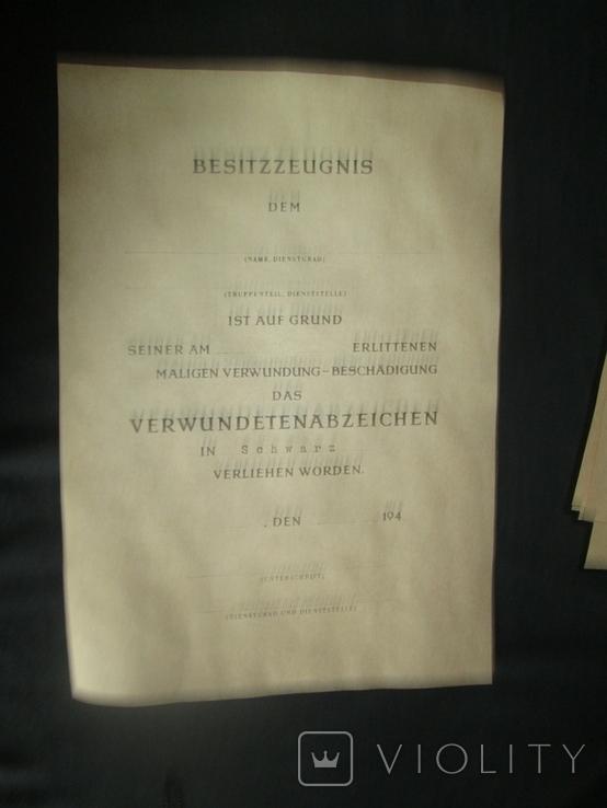 Наградной лист к знаку(За ранение черный).Копия