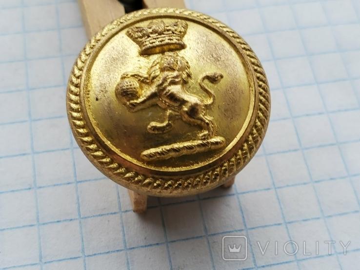 Пуговица Лев Корона земной шар, фото №3