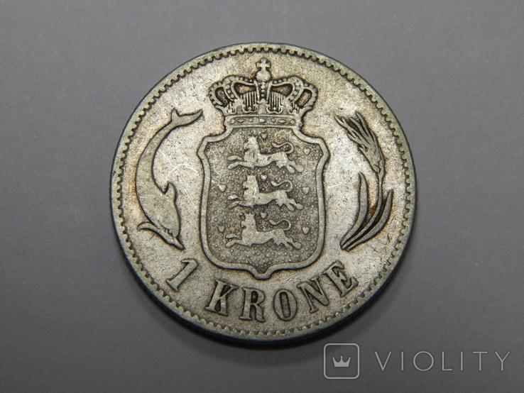 1 крона, 1875 г Дания, фото №2