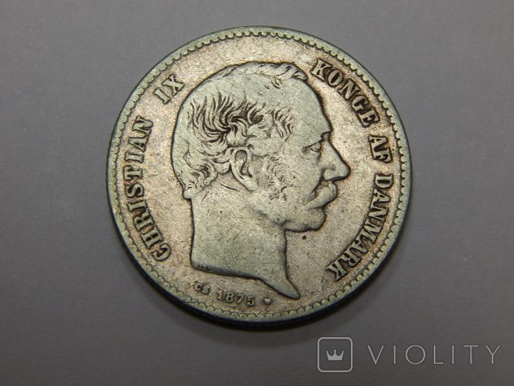 1 крона, 1875 г Дания, фото №3