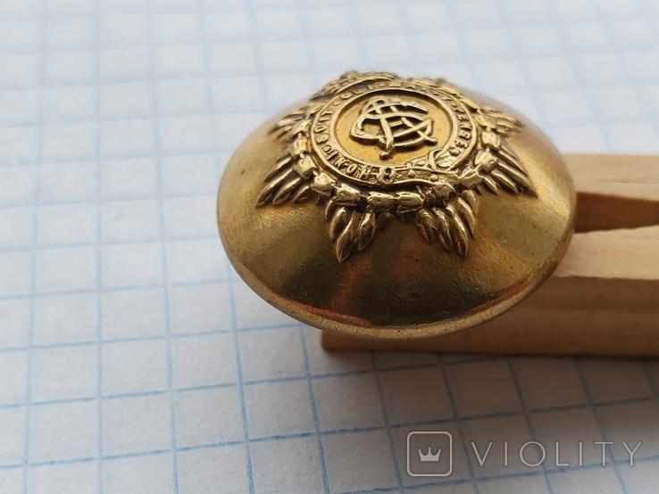Пуговица honi soit qui mal  буквы в середине, фото №9