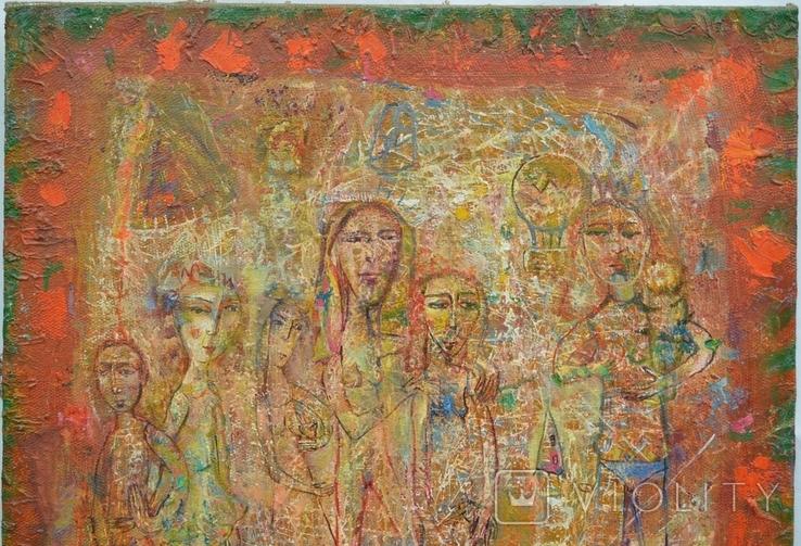 """Картина """"На пикнике"""" 2007 г.  Художник  Принь Сергей., фото №3"""