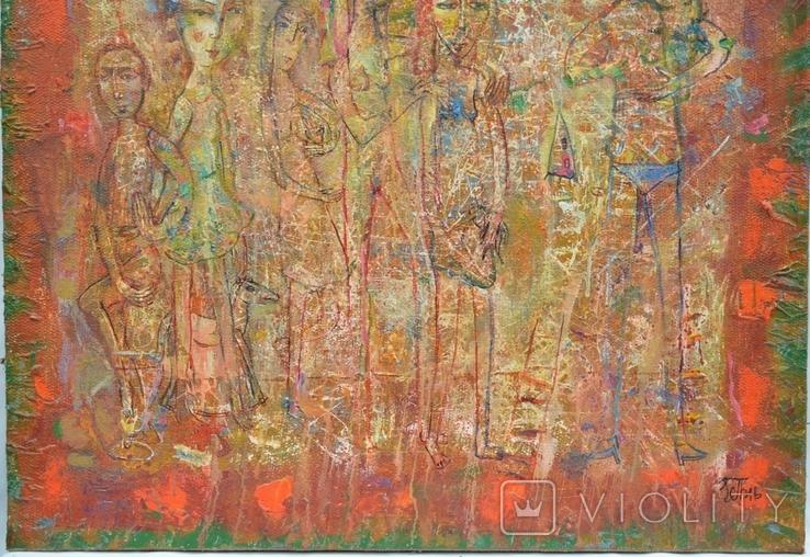 """Картина """"На пикнике"""" 2007 г.  Художник  Принь Сергей., фото №4"""