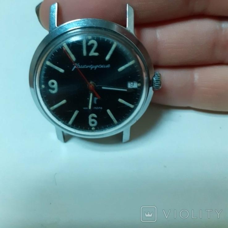 Часы командирские МО СССР ранние, фото №4