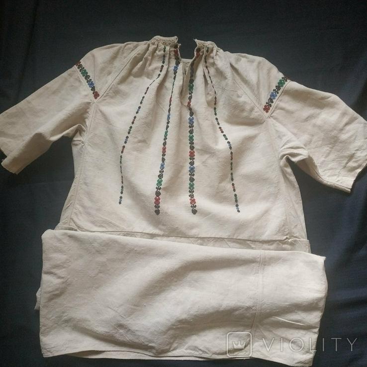 Старинная сорочка вышиванка. Сорочка старовинна, буденна, фото №2