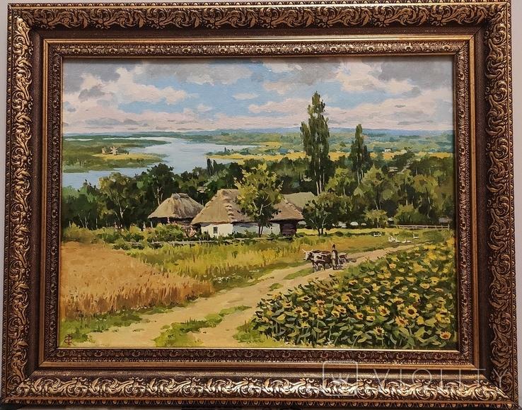 """""""Над старим Дніпром"""" полотно, олія 30х40., фото №3"""