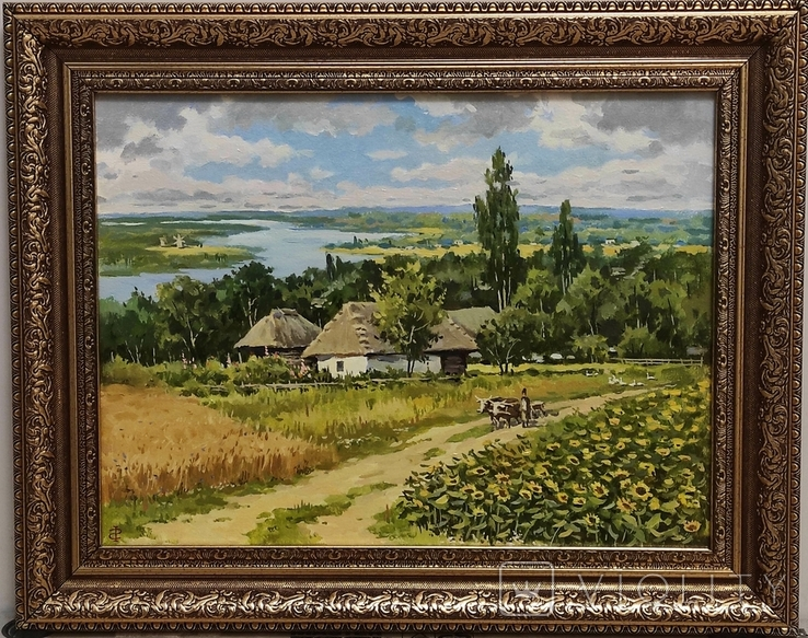 """""""Над старим Дніпром"""" полотно, олія 30х40., фото №4"""