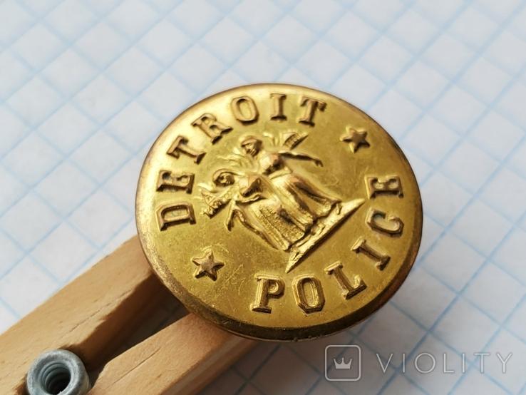 Пуговица Detroit Police, фото №4
