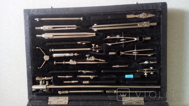 Готовальня большая ГВ  НЧК 28-1 ГОСТ 21469-76, фото №2