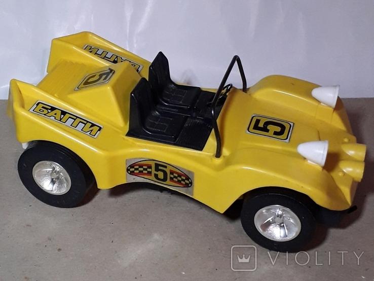 Машинка игрушечная СССР электромеханическая гоночная БАГГИ 5, фото №3