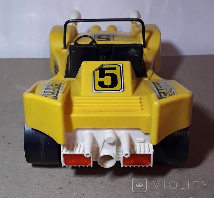 Машинка игрушечная СССР электромеханическая гоночная БАГГИ 5, фото №7