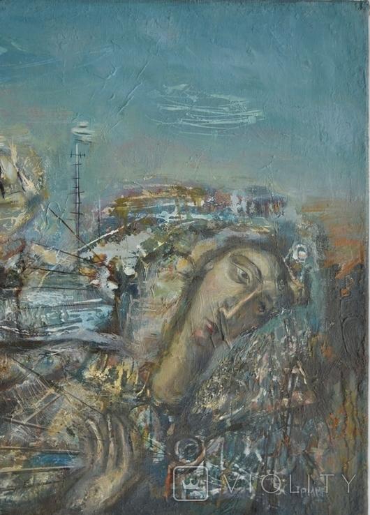 """Картина """"Благовещение"""" 1998 г. Художник  Принь С., фото №3"""