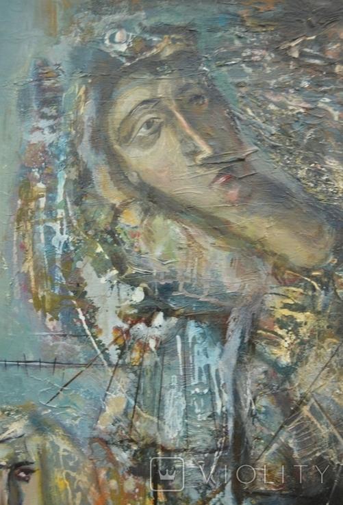 """Картина """"Благовещение"""" 1998 г. Художник  Принь С., фото №6"""