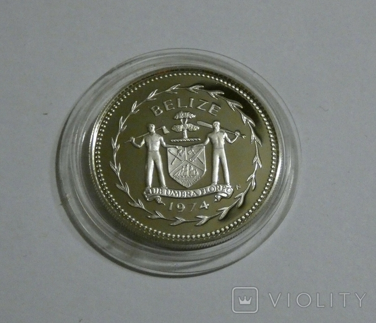 Белиз, 50 центов 1974 - Птицы - серебро, фото №3