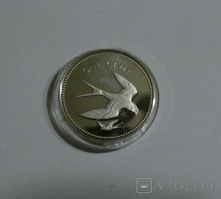 Белиз, 1 цент 1974 - Птицы - серебро, фото №3
