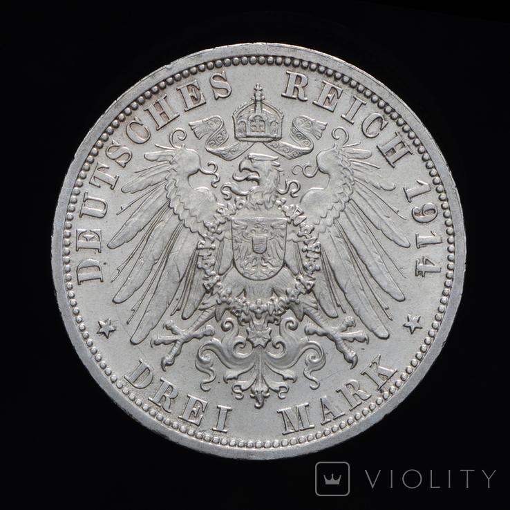 3 Марки 1914 Мундир, Пруссия, фото №3