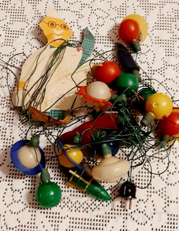 Новогодние гирлянды времен СССР, лот, фото №5